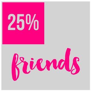 25% Friends by Sarah R. Bagley and Kim Schoenauer