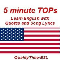5-minute TOPs - Songs and Quotes to Learn English by Marianne Raynaud
