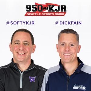 Dave 'Softy' Mahler and Dick Fain by Seattle's Sports Radio 950 KJR (KJR-AM)