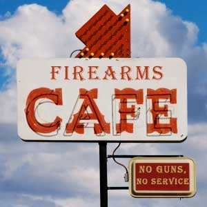 Firearms Cafe by Tony Brown