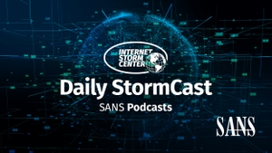 SANS Internet Stormcenter Daily Network/Cyber Security and Information Security Stormcast by Johannes B. Ullrich