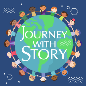 Journey with Story -  A Storytelling Podcast for Kids by Kathleen Pelley. audio story podcaster, audio book storyteller for kids, an
