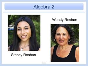 Algebra2 by Ms.Roshan