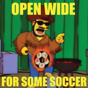 Open Wide For Some Soccer by Backheel